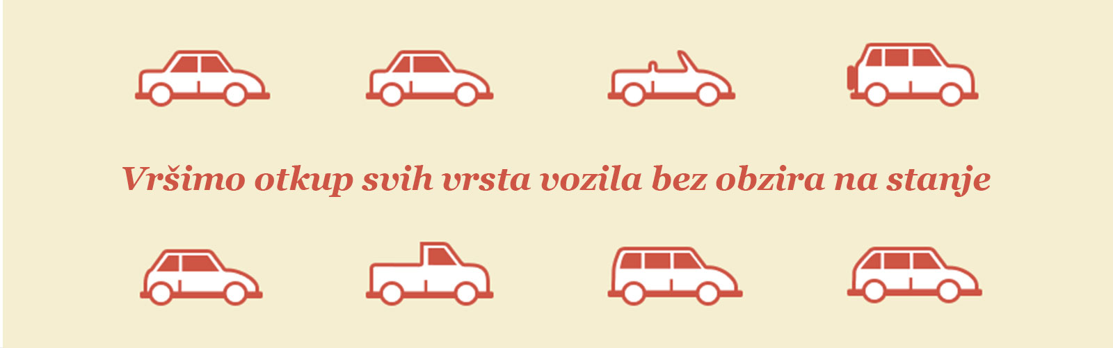 Kupujemo sve vrste vozila
